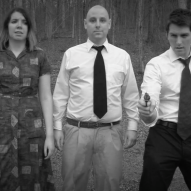 (from left) Kayla Clark as Lisa, Matt Spahr as Murray, and Matt Laumann as Ed