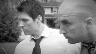 (from left) Matt Laumann as Ed and Michael Peake as Dr. Chang
