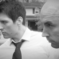 (from left) Matt Laumann as Ed and Michael Peake as Dr. Chang