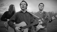 (from left) Robb Webb as The Bass Player, John Hoerr as Mitch, and Rick Reed as The Guitar Player
