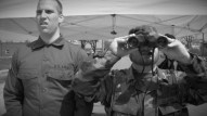 (from left) Christopher Hahn as Corporal Mulligan and Jake Robinson as General Graham